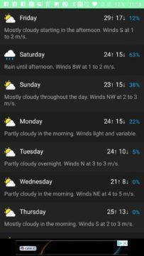 CARROT Weather - Prognóza na následující týden