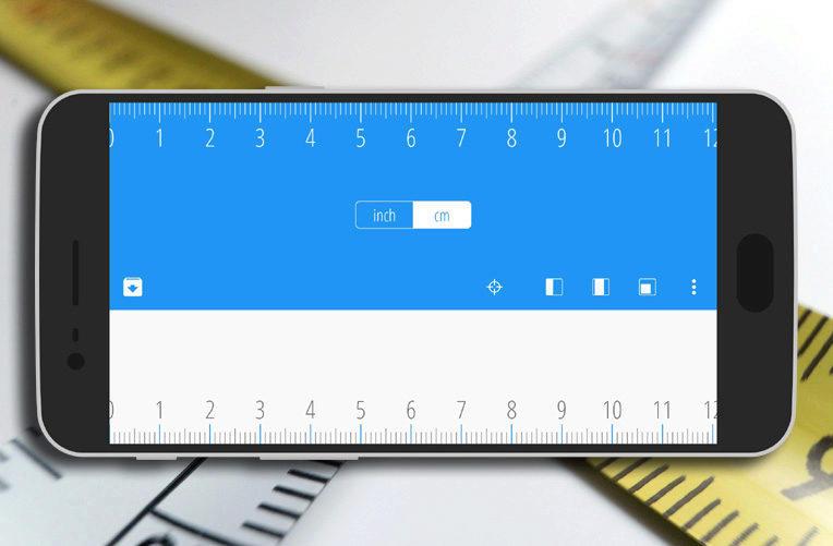 Ruler aplikace pravitko Android