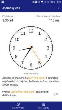 Atomic Clock & Watch Accuracy Tool Seřiďte hodinky podle atomových hodin