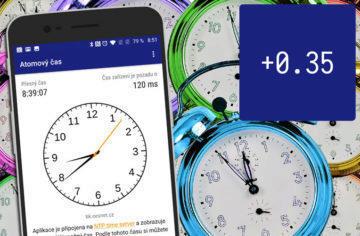 Seřiďte si hodinky a hodiny podle atomových hodin s českou aplikací