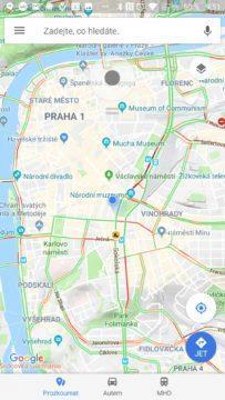 Také Mapy Google nás vidí v Praze Fake GPS Joystick