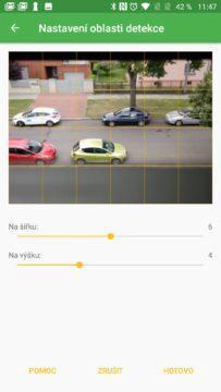 Výběr role Přihlášení účtem Google Úvodní nastavení Security Camera Vymezení sledovaného prostoru