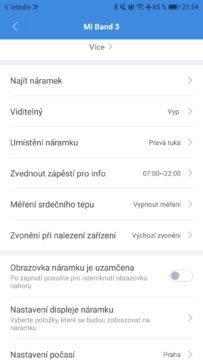 Xiaomi Mi Band 3 nastaveni Mi Fit