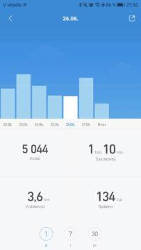 Xiaomi Mi Band 3 Mi Fit aktivity