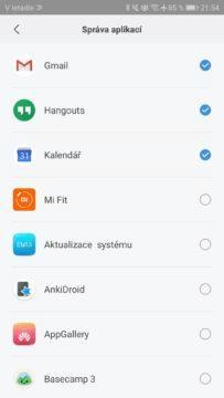 Xiaomi Mi Band 3 notifikace