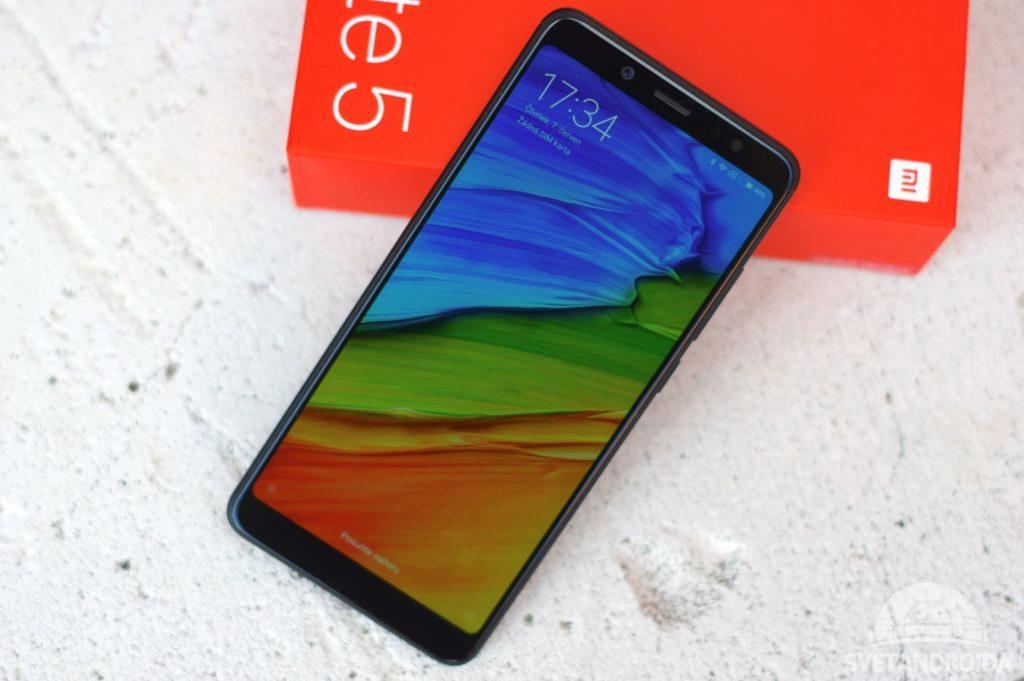 Xiaomi Redmi Note 5 přední strana