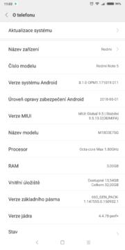Xiaomi Redmi Note 5 sw