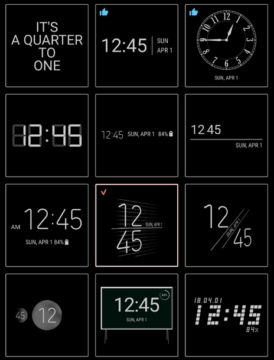 always on displej samsung clockface