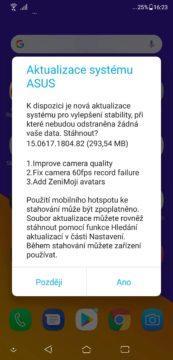 asus zenfone 5 aktualizace systemu