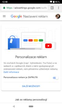 google personalizovane reklamy