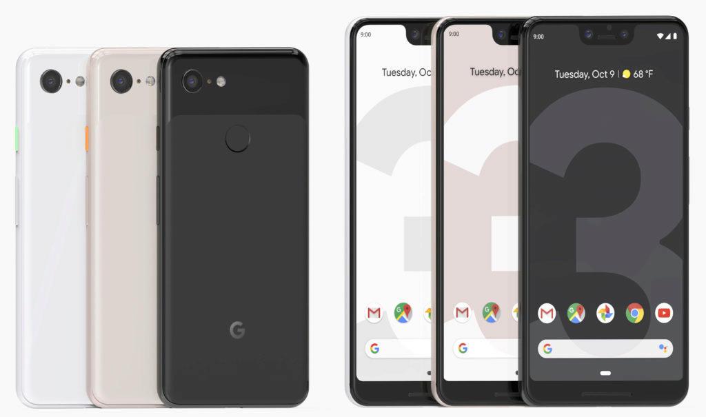 google pixel 3 design telefonu