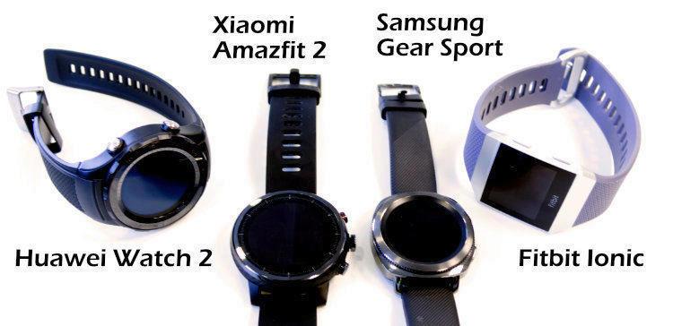 konkurence Xiaomi amazfi 2 huawei watch 2 gear sport fitbit ionic