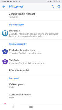 pristupnost a usnadneni android