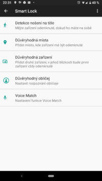 smart lock android nastaveni