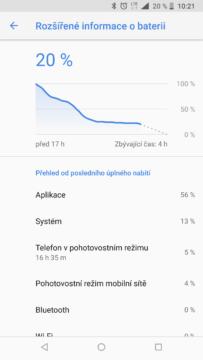 vydrz baterie je u Nokia 8 Sirocco nadprumerna