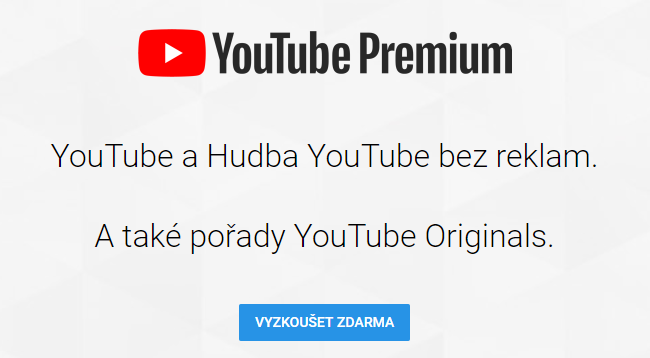 youtube premium zdarma