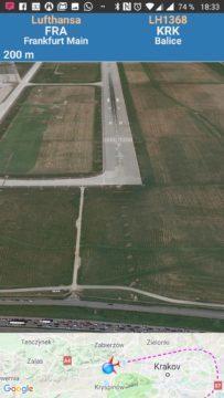 A slibovaný pohled z kabiny Air Traffic