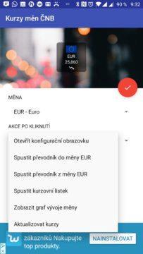 Akce po klepnutí Česká koruna