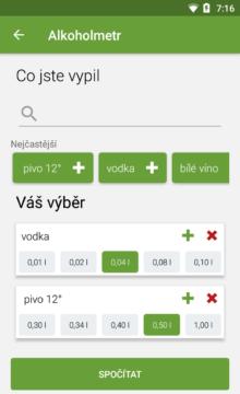 Alkoholmetr Android