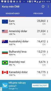Aplikace Česká koruna