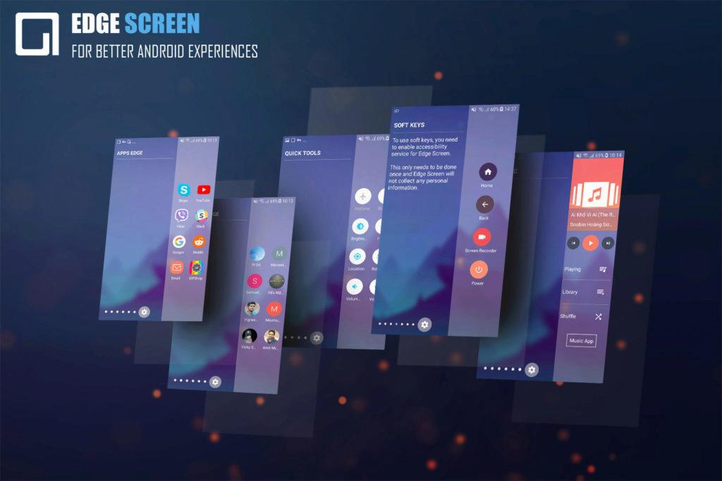 Edge Screen aplikace samsung telefon