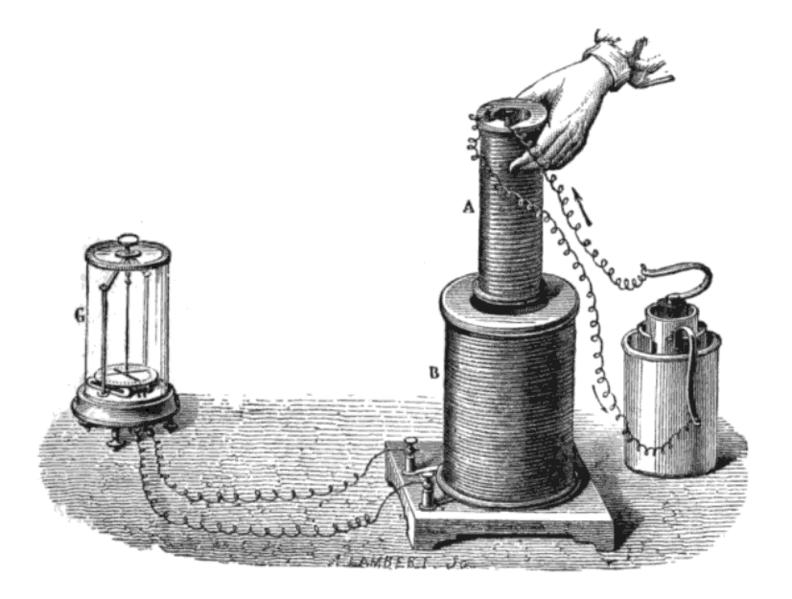 V roce 1831 Michael Faraday objevil elektromagnetickou indukci