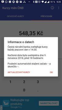 Infomace o datech Česká koruna