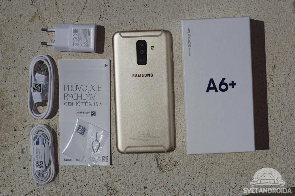 Samsung Galaxy A6 Plus obsah balení