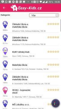 Seznam míst EasyKids