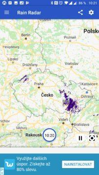Rain Radar Situace nad Českem