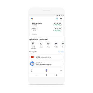 asistent google nova funkce informace