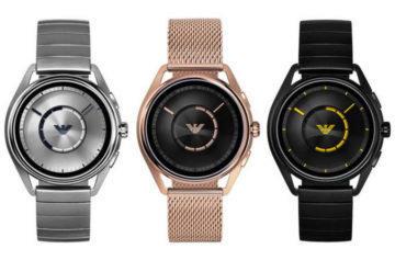Chytré hodinky Emporio Armani představeny: Wear OS, GPS, NFC i přijatelná cena