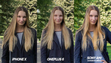 fototest iphone X vs oneplus 6