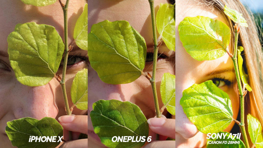 fototest iphone X vs oneplus 6 detail oblicej