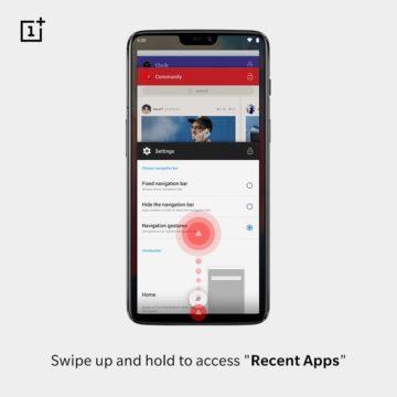 gesta ovladani androidu OnePlus 6