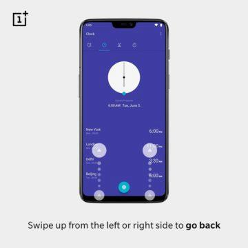 gesto tlacitko zpet oneplus 6 oxygen os
