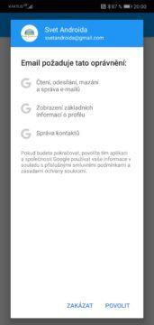 gmail problem cteni emailu tretimi stranami