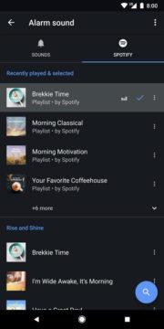 google hodiny integrace spotify