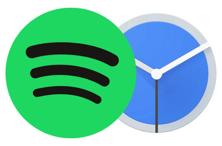 google hodiny integruje spotify