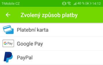 google pay android flixbus aplikace platby