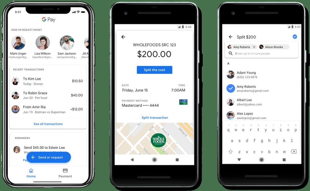 google pay posilani penez