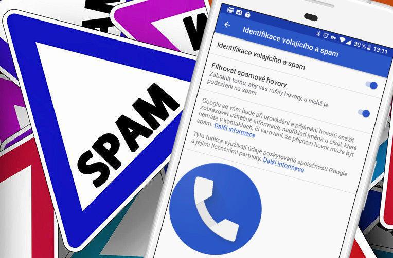 google telefon spamove hovory blok
