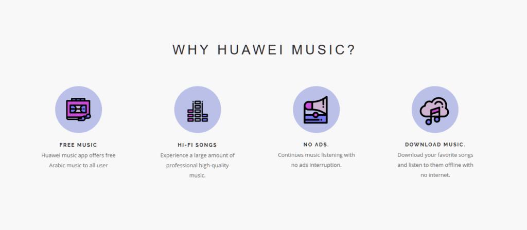 huawei music streamovani hudby