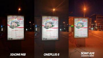 který telefon fotí lépe oneplus 6 nebo Xiaomi Mi 8 – nocni fotografie
