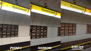 metro zhorsene podminky fotografie apple iphone x vs xiaomi mi 8