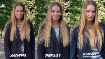 modelka srovnani fotoaparu oneplus 6 vs xiaomi mi 8 vs zrcadlovka