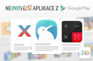 Nejnovější aplikace z Google Play #245: dva webové prohlížeče