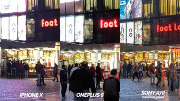 nocni fotografie ulice detail testovani telefony oneplus 6 vs iphone X