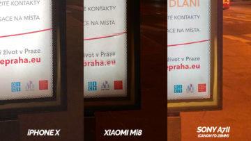 nocni fotografie xiaomi mi 8 vs apple iphone x detail
