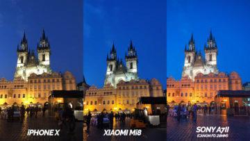nocni praha fototest xiaomi mi 8 vs iphone X